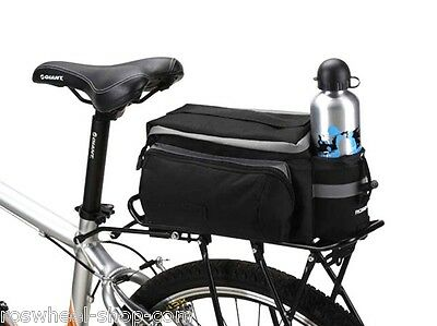 Roswheel compact 7ltr rear bike rack bag small cycle basket pannier UK 14024 new