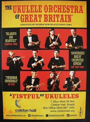 The Ukelele Orchestra Of Great Britain Show Flyer  - 2014 Colston Hall, Bristol