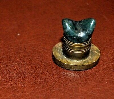 Antique Wax Seal with Green Stone (Jade?) 18th Century