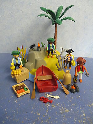 Piraten Insel Palme Boot Figuren zu 5135 4290 Piratenschiff Playmobil 8137