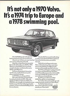 1970 Volvo Car It's Not Only Ad