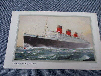 Cunard R.m.s. Queen Mary  Abstract Of Log 1954