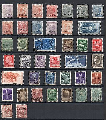 ITALY Stamp Collection OLDER ISSUES MINT USED REF:QE167