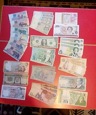 Assorted foreign banknotes various countries & years