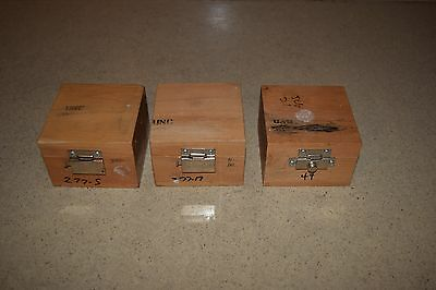 "++ WOOD CASE Interior Size: 3"" L 3"" W VARIES"" H - LOT OF 3 (TT1)"