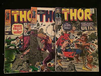 THOR #137, 140, 149 G Condition