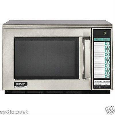New Sharp Commercial Microwave Oven R21Lvf 1000 Watts Digital Controls 10 Preset