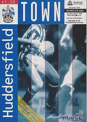 HUDDERSFIELD TOWN v PLYMOUTH ARGYLE 93-94 LEAGUE MATCH  LAST SEASON LEEDS ROAD