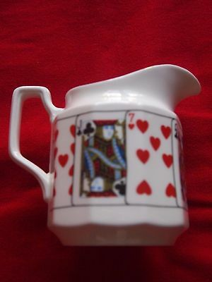 """Queen's China """"Cut For Coffee"""" Milk Jug VGC"""