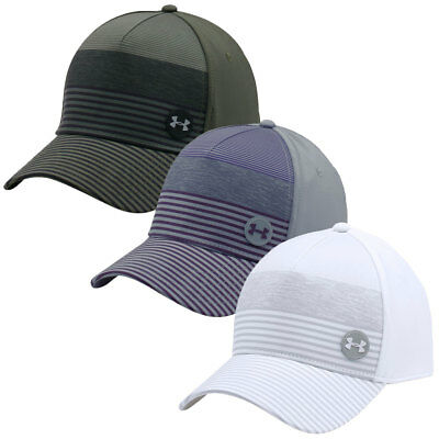 Under Armour 2017 Mens Golf Striped Out Cap UA Stretch Fit Structured Hat