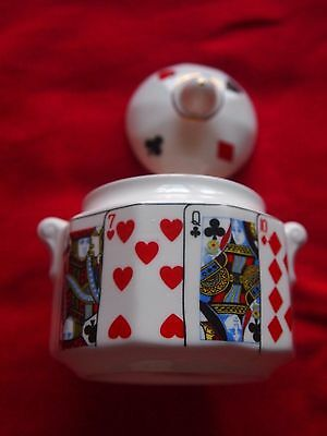"""Queen's China """"Cut For Coffee"""" Lidded Sugar Bowl  VGC"""