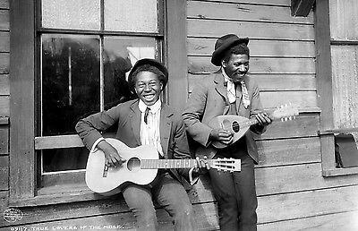 """1902 African Americans Playing Strings Photograph 11"""" x 17"""" Reprint"""
