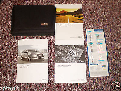 2013 Audi Q7 Complete Suv Owners Manual Books Nav & Quick Ref Guide Case All