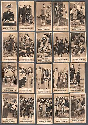 1924 Hignett's The Prince of Wales Empire Tour Tobacco Cards Complete Set of 25