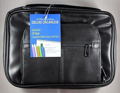 "Bible Cover Deluxe Organizer with Study Kit Brand NEW Extra Large Fits 10"" x 7"""