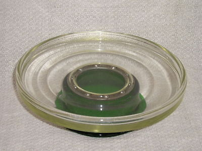 Rare Vintage Depression~Forest Green~Clear Ball Bearing Lazy Susan Paden City ??