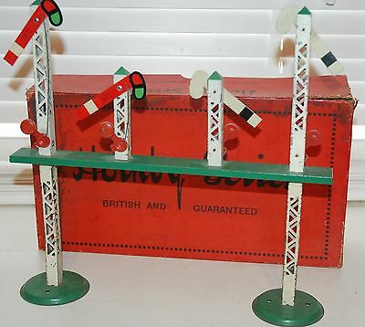 HORNBY SERIES O GAUGE No 1 SIGNAL GANTRY PRE WAR WITH IT ORIGINAL BOX