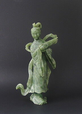 Large Antique Chinese Jade Statue Carving