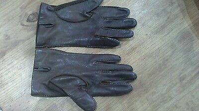 vintage leather silk lined gloves Dent Fownes