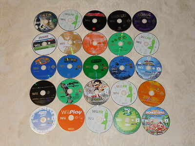 25 faulty scratched Nintendo Wii games discs only