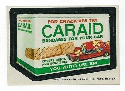 1974 Topps Wacky Packages 10th Series 10 CARAID BANDAGES nm-