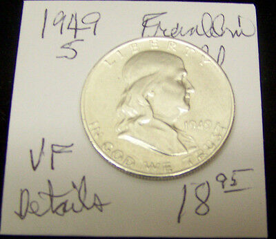 1949 S Franklin silver half dollar -VF with DETAILS