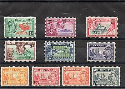 British Commonwealth A few GVI Pitcairns and St Helena mint