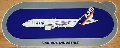 Original Official Airbus A319 Airliner Sticker Version 1