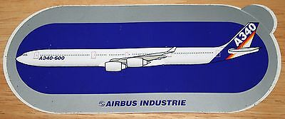 Original Official Airbus A340-600 Airliner Sticker