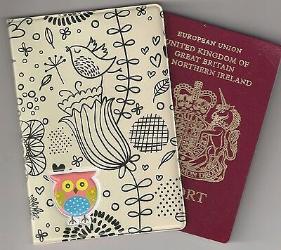 Passport Holder Owl Bird Cute bag travel gift