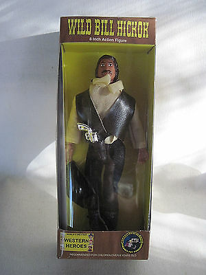 "Western Heroes Wild Bill Hickok 8"" Action Figure Out of Production New in Box!"