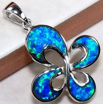 Australian Opal Inlay 925 Solid Genuine Sterling Silver Pendant