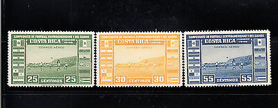 Costa Rica 1946 Soccer Championship  Sc C121-23  complete mint never hinged