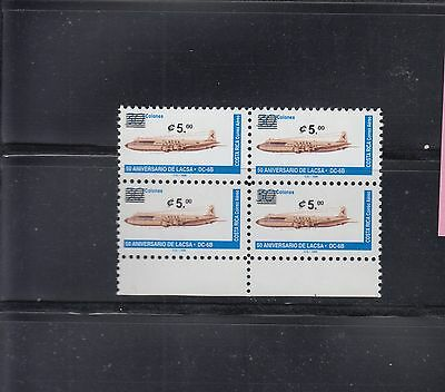Costa Rica 2001 Air Surcharge Sc C939 Block of 4 Mint never hinged