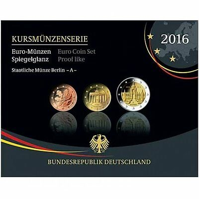 2016 Germany 9-Coin EURO Proof Set - Karlsruhe Mint (G)