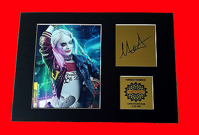 Margot Robbie Harley Quinn mounted quality signed print A4 Suicide Squad new *