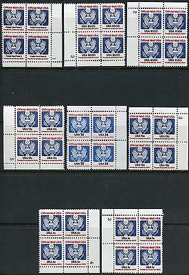 United States Lot Of Mint Never Hinged  Officials Plate Blocks As Shown
