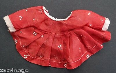 Vintage 1940's Red Dress Dress Doll Play Clothes / Clothing