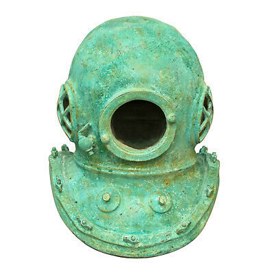 Divers Helmet Old Vintage Style Mark V Nautical Green Tiffany Steampunk Scuba