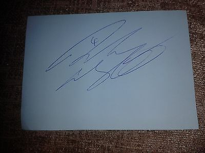 Rangers/Hearts/St Mirren Andy Webster HAND SIGNED page