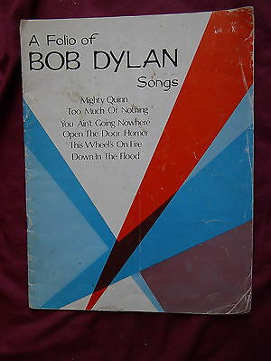 Bob Dylan - A Folio Of Songs - Music And Lyric Book