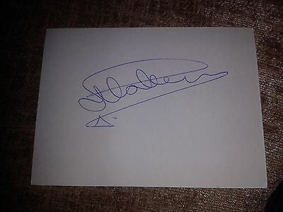 Rangers Mark Hateley HAND SIGNED card