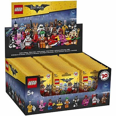 LEGO Minifigures THE LEGO BATMAN MOVIE 2017 -Sealed Box of 60 Mini Figures 71017
