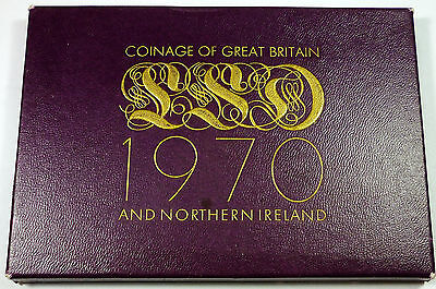 1970 Coinage of Great Britain & Northern Ireland United Kingdom Royal Proof Set