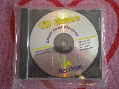Recoton Cd Game Laser Lens Cleaner On Disc Voice Instruction Ps1/3Do/sega Saturn