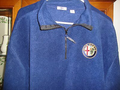 Alfa Romeo Quality Blue Jacket Fleece 100% polyester size XL Zip