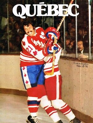 1974 Quebec Nordiques Home vs Indianapolis Racers WHA World Hockey Assn Program