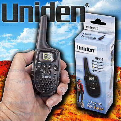 Uniden Small Handheld Hand Held Uhf Two Way Compact Radio Walkie Cb 80Ch Uh35