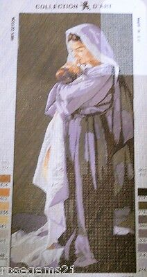MOTHER IN ROBES & BABY ~ TAPESTRY/NEEDLEPOINT CANVAS - New