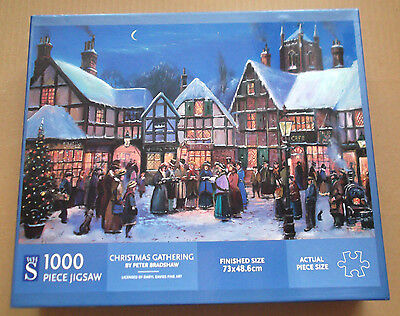 1 Jigsaw - Christmas Gathering - By Wh.smith Puzzles - 1000 Pieces - Used